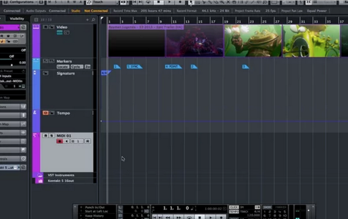 Film Scoring Features in Cubase